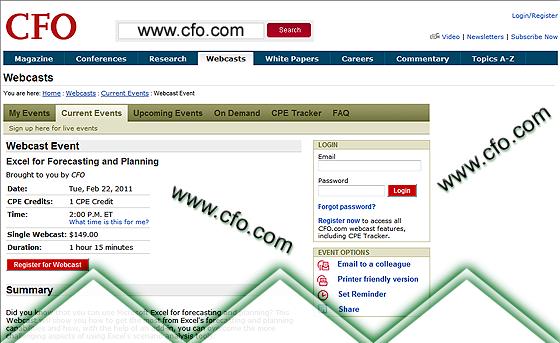 CFO.com Live Webinar: 22-Feb-2011
