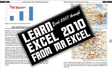 "Image from the New ""Learn Excel 2007 through 2010 from MrExcel"" book"