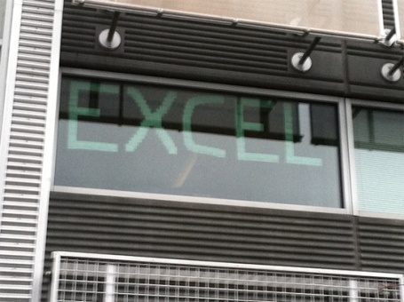 Post-It Note Excel at Building 36