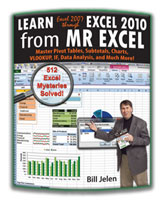 """Learn Excel 2007 through 2010 from MrExcel"" by Bill Jelen"