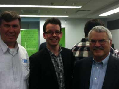 Bill Jelen from MrExcel, ModelOff grand prize winner Alex Gordon, and Professor Simon Benninga at the ModelOff Finals in NYC