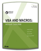 VBA and Macros Excel 2010, by Bill Jelen