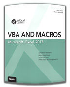 VBA and Macros Excel 2013 by Bill Jelen and Tracy Syrstad