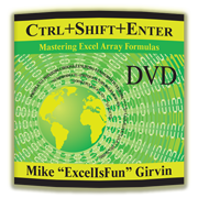 """Ctrl+Shift+Enter"" DVD by Mike 'ExcelisFun' Girvin"